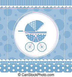 blue boy baby stroller - blue polka dot and stripes baby...