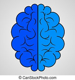 blue brain icon