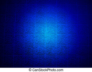 blue brick wall lighting, religion details - abstract blue...
