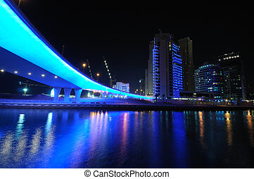 Blue Bridge in Dubai Marina, United Arab Emirates