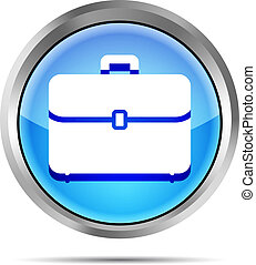 blue briefcase icon on a white back