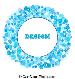 blue Bright Abstract Halftone dot Logo circle Design Element with place for text on white background, vector illustration
