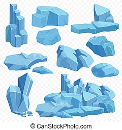 Blue bright crystals. Poly mineral stone rocks. Emerald crystal, quartz ruby crystal, diamond game stones set on the transperant background.