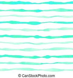 Blue bright striped watercolor pattern