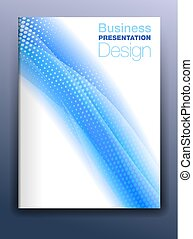 Blue Brochure Cover Template Vector Design
