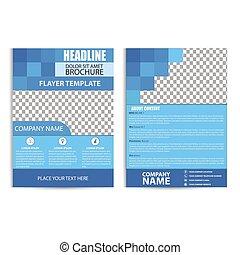 Blue Brochure Design, Flyer Template