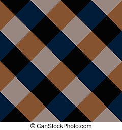 Blue Brown Chess Board Diamond Background Vector ...