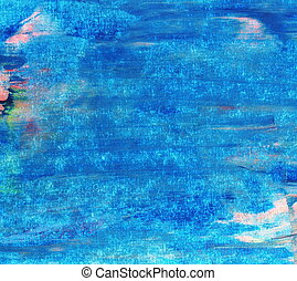 blue brush strokes oil paint