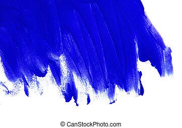 blue brushstrokes - brushstrokes of blue paint on a white...