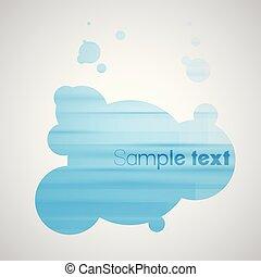 Blue bubble background eps10 vector