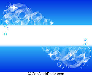Blue bubble vector background
