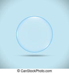 blue bubble vector illustrator