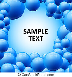 Blue bubbles abstract vector background