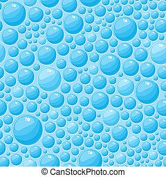 Blue Bubbles Seamless Pattern
