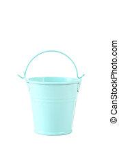 Blue bucket isolated on white