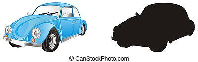 blue bug car