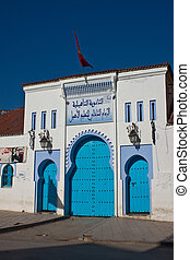 Blue building in Chefchaouen