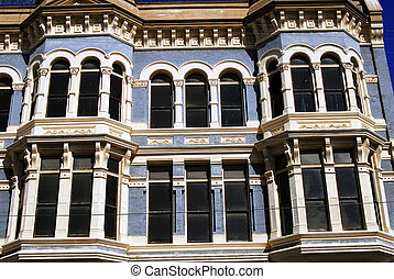 blue building - The Hastings Building in Port Townsend