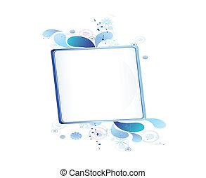 blue bulletin board