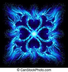 Blue burning fire cross - Blue Burning fire cross....