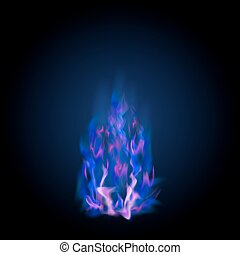 Blue Burning Fire Flame
