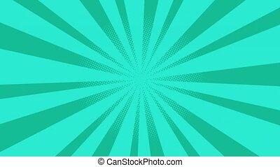 Blue Burst background. Nice sunburst vintage style sun -...