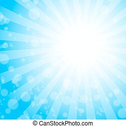 blue burst background. vector