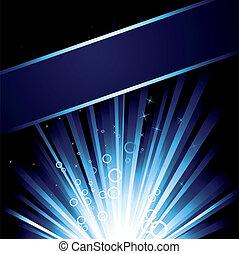 Blue Burst - Detailed illustration with a blue burst with...