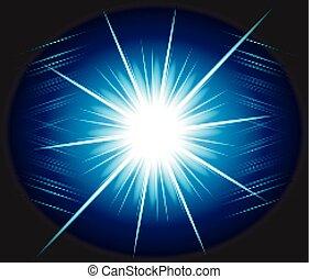 Blue burst Exploding background