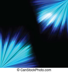 Blue burst light background vector