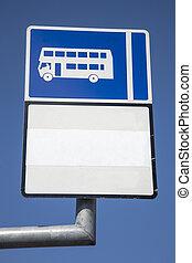 Blue Bus Sign