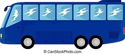 blue bus transportation - blue bus vehicle for long distance...