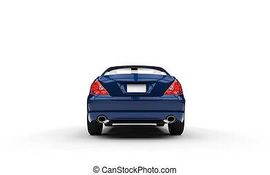 Blue Business Car Back