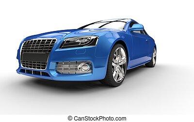 Blue Business Car