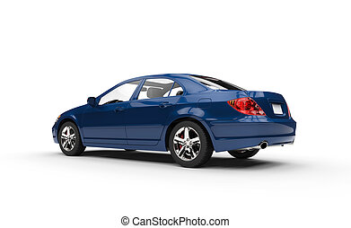 Blue Business Car Showroom