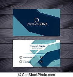 blue business card abstract template