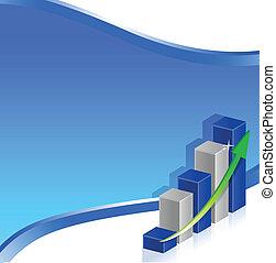 blue business chart
