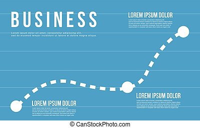 Blue business chart graph design