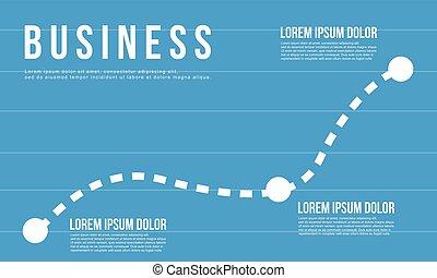 Blue business chart graph design