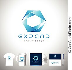 Blue business corporate logo design - Blue Sphere Business...