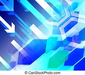Blue Business Finance Background