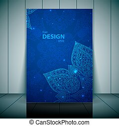 Blue Business Flayer Template