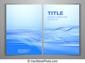 Business Front and Back Flyer Templ - Blue Business Front...