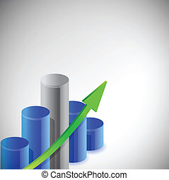 blue business graph illustration design