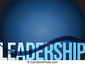 Blue business leadership background with waves