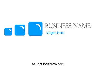 Blue business logo