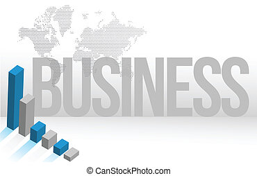 Blue Business map chart background