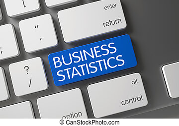 Blue Business Statistics Button on Keyboard.