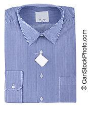 blue business striped shirt