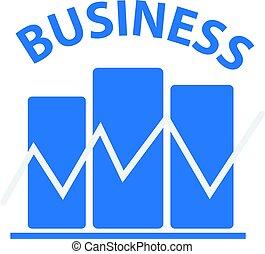 Blue business symbol isolated on white background